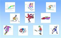 Визуальный словарь на тему «Зимние виды спорта»