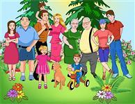 Визуальный словарь на тему «Семья»